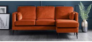 Anton Apricot RHF Fabric Corner Sofa