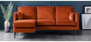 Anton Apricot LHF Fabric Corner Sofa
