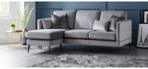Anton Grey LHF Fabric Corner Sofa
