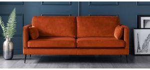 Anton Apricot Fabric Regular Sofa