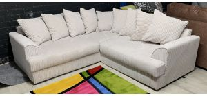 Barrington Cream 2C2 Fabric Corner Sofa Ex-Display Showroom Model 46880