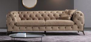 Batal Aniline Leather Sofa Set 3 + 2 Seater Coffee
