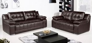 Roco Leather Sofa Set 3 + 2 Seater Brown, Delivery in 8 weeks