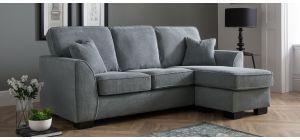 Dallas Charcoal RHF Fabric Corner Sofa