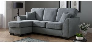 Dallas Charcoal LHF Fabric Corner Sofa