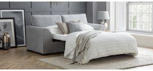 Dallas Silver Sofa Bed Regular Fabric Sofa