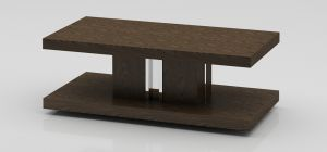 Dark Elm Rectangular Coffee Table