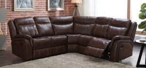 Hampton Recliner Leathaire Large Corner Sofa Tan 2C2