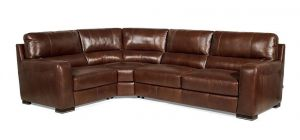 Lucca Corner LHF Marinelli Italia Real Leather Brown Showroom Model, Available for delivery in 6 weeks