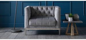 Mayfair Grey Fabric Armchair