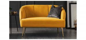 Myla Mustard Fabric 2 + 1 Sofa Set