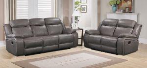 Medusa Recliner Leathaire Sofa Set 3 + 2 + 1 Seater Grey