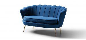 Pearl Royal Blue Fabric 2 + 1 Sofa Set