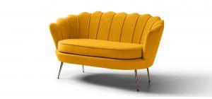 Pearl Mustard Fabric 2 + 1 Sofa Set