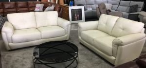 Peter 3 + 2 Seater Ivory Showroom Model 6003