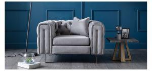 Ritz Grey Fabric Armchair