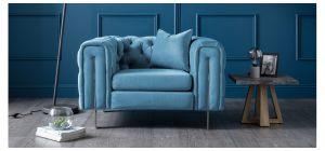 Ritz Peacock Fabric Armchair