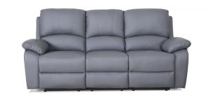 Rockford Grey Reclining 3 Seater Leather Sofa Delivery in 5 weeks