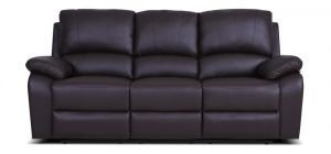 Rockford Recliner Leather Sofa 3 Seater Mocha Delivery in 5 weeks