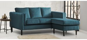 Nikon Peacock RHF Fabric Corner Chaise Sofa Delivery Available from Mid-January
