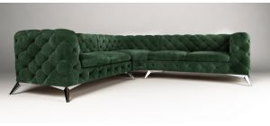 Sandringham Fabric Corner Sofa Large Green 2C2