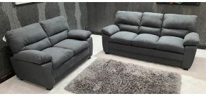 Sophie Grey Fabric 3 + 2 Sofa Set Ex-Display Showroom Model 46870