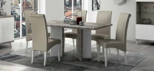 Treviso 1.8m Dining Table With Six Cream Chairs