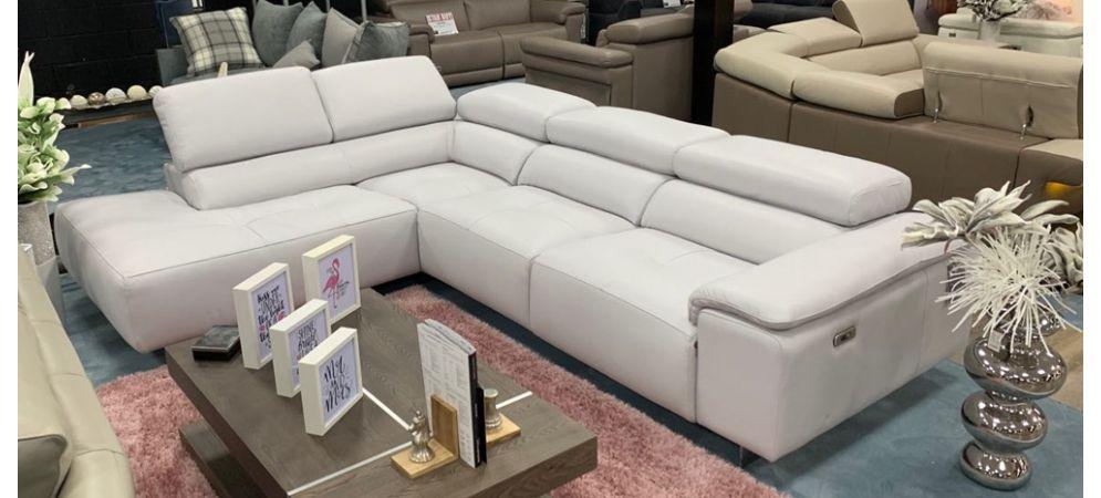 Leather Corner Sofa Light Grey, Electric Leather Sofa