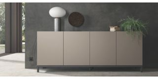 Kali Taupe Four Door Buffet Cabinet Sideboard