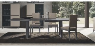 Kali Taupe 1.9m Dining Table With Six Cream Chairs