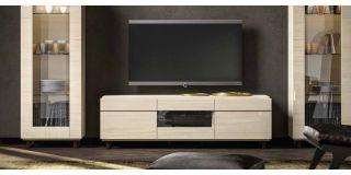 Perla White Larch Three Door TV Unit