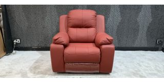Montreal Red Leather Armchair Manual Recliner Few Scuffs (see images) Ex-Display Showroom Model 46955