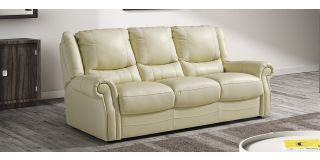 Berrydale Cream Leather 3 + 2 Sofa Set Newtrend Available In A Range Of Leathers And Colours 10 Yr Frame 10 Yr Pocket Sprung 5 Yr Foam Warranty