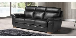 Cosmos Black Leather 3 + 2 Sofa Set With Wooden Legs Newtrend Available In A Range Of Leathers And Colours 10 Yr Frame 10 Yr Pocket Sprung 5 Yr Foam Warranty