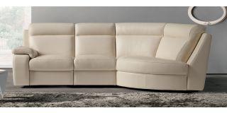 Harry Cream RHF Semi-Aniline Leather Corner Sofa Newtrend Available In A Range Of Leathers And Colours 10 Yr Frame 10 Yr Pocket Sprung 5 Yr Foam Warranty