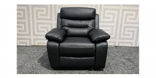 Admiral Black Bonded Leather Armchair Manual Recliner Ex-Display Showroom Model 47615