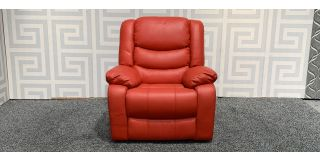 Red Leather Massage Electric Recliner Armchair Ex-Display Showroom Model 47904