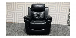 Gizelle Black Leathaire Armchair Manual Recliner Ex-Display Showroom Model 47937