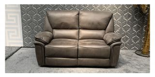 Kaki Regular Fabric Manual Recliner With Black Piping Detail - Small Scuff Right Bottom (see images) Ex-Display Showroom Model 47958