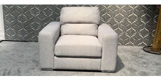 Pisa Grey Fabric Armchair With Chrome Legs Ex-Display Showroom Model 47960