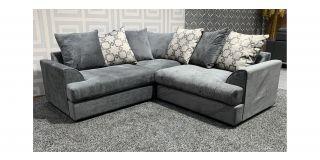 Ferguson Graceland Grey Fabric Corner Sofa With Scatter Back Ex-Display Showroom Model 47988