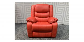 Red Bonded Leather Electric Recliner Massage Chair With Remote Ex-Display Showroom Model 48087