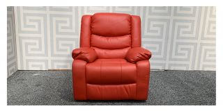 Red Bonded Leather Electric Massage Recliner Chair Ex-Display Showroom Model 48095