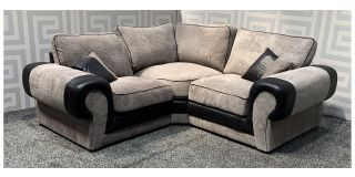 Tango Grey And Black 1C1 Fabric Corner Sofa - Mismatch Colour Sections (see images) Ex-Display Showroom Model 48118