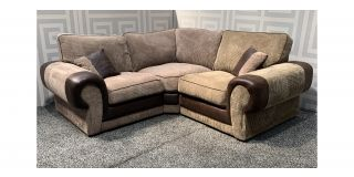 Tango Brown 1C1 Fabric Corner Sofa - Mismatch Right Section Brown Shade (see images) Ex-Display Showroom Model 48119