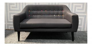 Twirl Grey Regular Fabric Sofa With Wooden Legs - Few Marks (see images) Ex-Display Showroom Model 48126