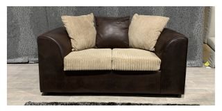 Dylan Brown Regular Fabric Sofa With Scatter Back - Front Right Small Scuff (see images) Ex-Display Showroom Model 48136