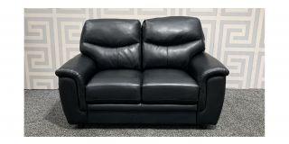 Black Bonded Leather Regular Sofa Ex-Display Showroom Model 48197