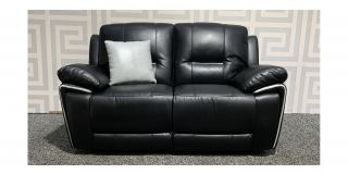 Henry Black Leathaire Regular Sofa Electric Recliner Ex-Display Showroom Model 48399
