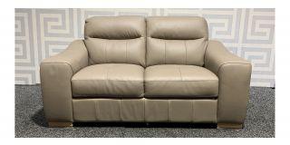 Lucca Camel Regular Leather Sofa Sisi Italia Semi-Aniline With Wooden Legs Ex-Display Showroom Model 48400